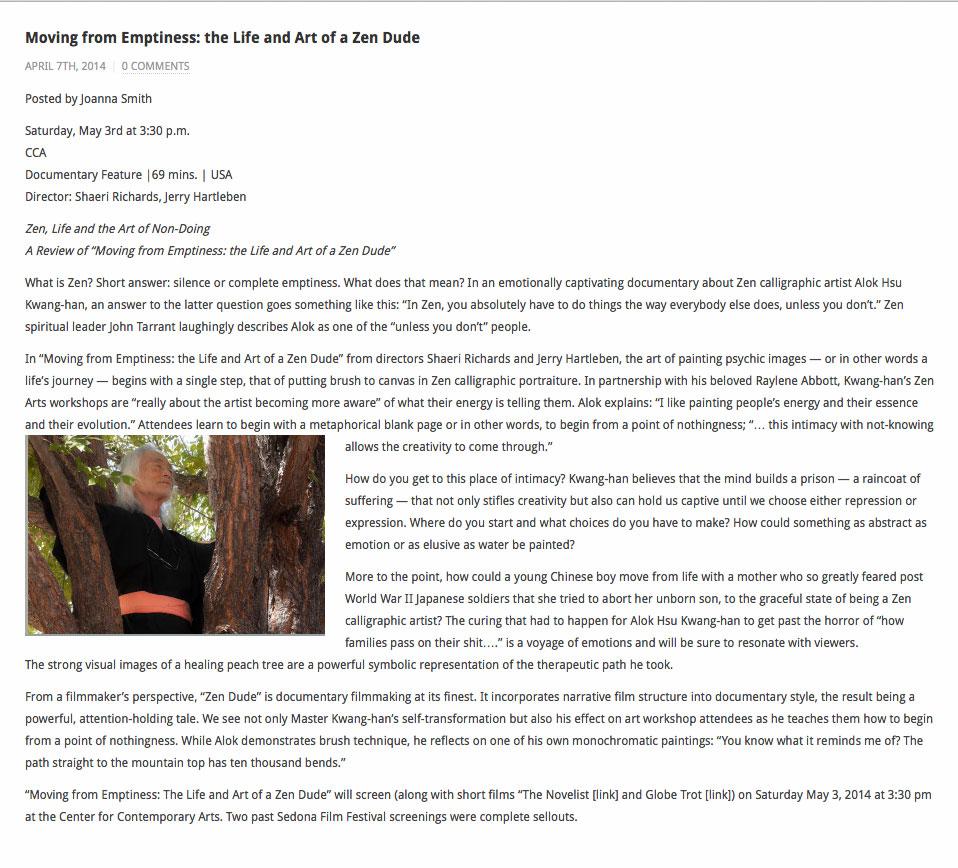 Zen Dude Movie Review Santa Fe Film Festival